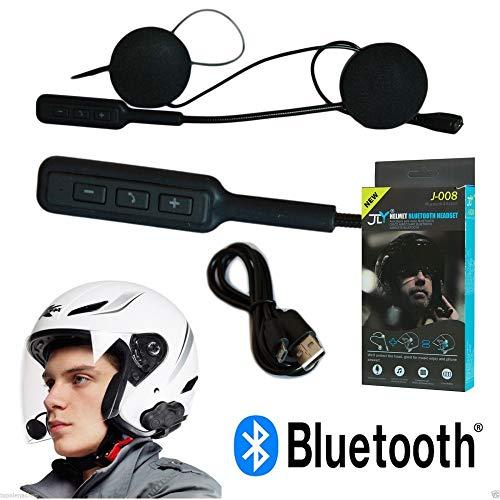 TrAdE shop Traesio INTERFONO Bluetooth Impermeabile per Casco Moto MP3 BT Microfono Auricolari