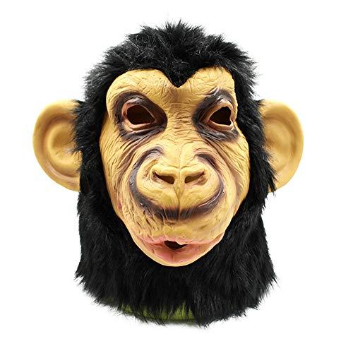 Halloween Maske Latex Schimpansen Lustigen Tierischen Kopf Volles Gesicht Maske Karneval Cosplay Neuheit Masquerade Kostüm Partei Requisiten Rolle Spiel Spielzeug Für Erwachsene