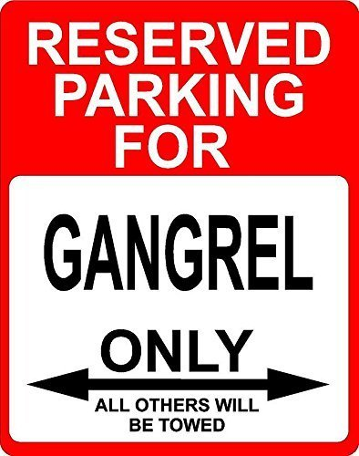 Monsety Wall Art Decorativo segni Gangrel Professione Reserved Parking Only Others Metal Room Plaque Funny Aluminum Sign
