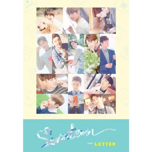 SEVENTEEN - [FIRST ¡®LOVE & LETTER¡¯] 1st Album LETTER ver. CD+148p Photo Book+Post Card Set(3p)+1p Photo Card+Sticker K-POP Sealed