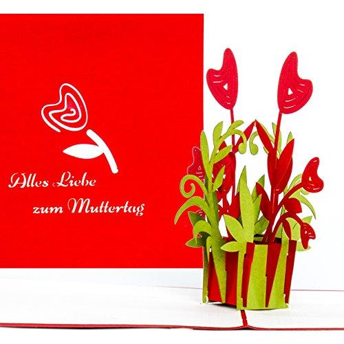 Pop-Up Karte Muttertagskarte 'Alles Liebe zum Muttertag' Muttertag, Muttertagsgeschenk, Gutscheinkarte,...