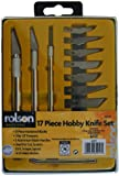 Rolson 62917 Hobby Knife Tools Set in Plastic Case - 17 Pieces