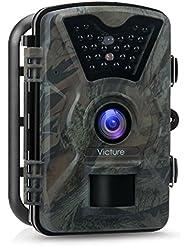 """Victure Caméra de Chasse 12MP 1080P HD Piège Photographique PIR Nocturne Infrarouge Surveillance Imperméable IP66 2.4"""" LCD 90° Angle de Détection 20M Portée de Caméra Nature Soignée de Trap"""
