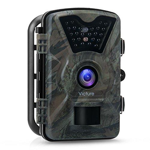 """Produktbild Victure Wildkamera Fotofalle 1080P Full HD 12MP Jagdkamera Weitwinkel Vision Infrarote 20m Nachtsicht Wasserdichte IP66 Überwachungskamera mit 2.4"""" LCD Display"""