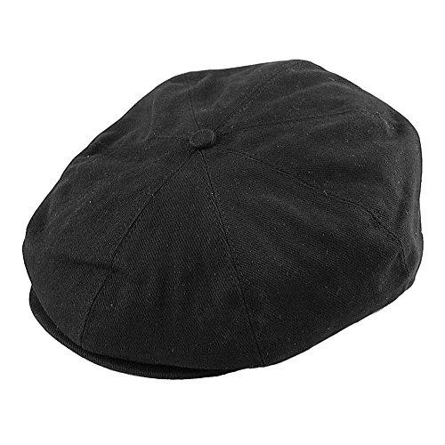 mütze aus Baumwolle - Schwarz - M (Herren Sommer Newsboy Hüte Xxl)
