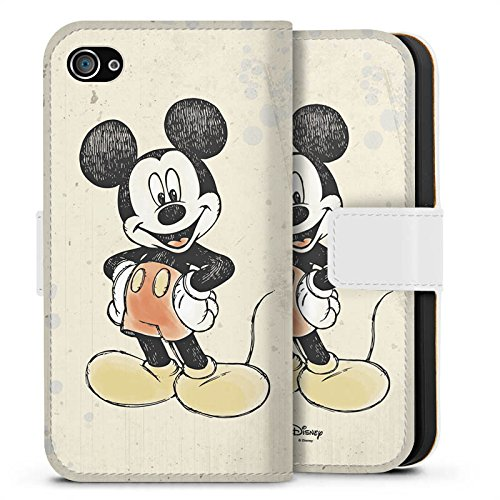 Apple iPhone 6s Silikon Hülle Case Schutzhülle Disney Mickey Mouse Merchandise Geschenke Sideflip Tasche weiß