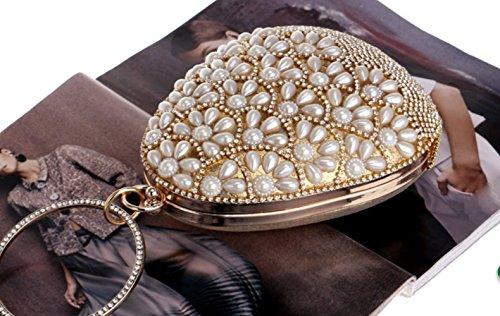 Handmade Pearl Handbag Lady Banquet Evening Bag Wild Fashion Small Bag - clutches