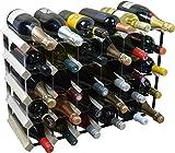 Harbour Housewares 30 Bottle Wine Rack - Fully Assembled - Light Wood