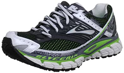 Brooks Glycerin10 W, Damen Sportschuhe - Running, Grün (Green/Black/Silver/White), 36 EU / 3,5 UK
