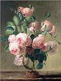 Poster 30 x 40 cm: Vase mit Blumen von Pierre Joseph Redouté/Bridgeman Images - Hochwertiger Kunstdruck, Kunstposter