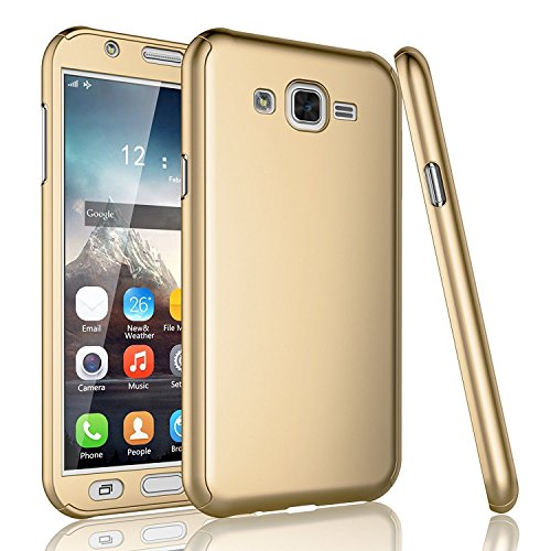 GSMOBILE® Golden Slim Fit 360 Degree Full Body Protection Hybrid Case Cover For Samsung Galaxy Grand 2 (7102/7106) ( includes front & back cover & screen tempered glass )  available at amazon for Rs.299