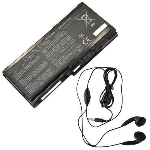 amsahr TSHPA3730-03 Ersatz Batterie für Toshiba PA3730, Satellite W35DT, A3300, Pa5156u-1brs, P000577240 - Umfassen Stereo Ohrhörer schwarz