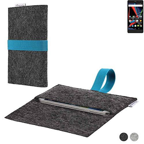flat.design Handy Hülle Aveiro für Archos 55 Diamond Selfie Lite passgenaue Filz Tasche Case Sleeve Made in Germany