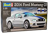Ford Mustang V 2. Generation Coupe Silber mit Blauen Streifen 2009-2014 07061 Bausatz Kit 1/24 Revell Modell Auto