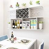 Wine Rack - Wandbehang Weinregal Weinregal Wandregale Moderne minimalistische Wein Restaurant Hänge an der Wand montiert Home Weinregal Felice Home (Farbe : Weiß, größe : M)