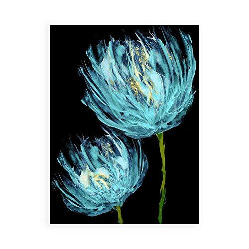 DìMò ART Druck auf Leinwand auf Poster oder Bild Österin Vanessa Aqua Tulips II -