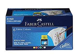 Faber-Castell Fabric Color - Pack of 6 (Assorted)