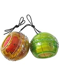 Gyro Ball Bras avant-bras Power pour poignet/avant-bras Force Fitness Balle de massage pour de Tennis de Golf de gyroscope Durcisseur Essoreuse avec lampe LED [] couleur aléatoire