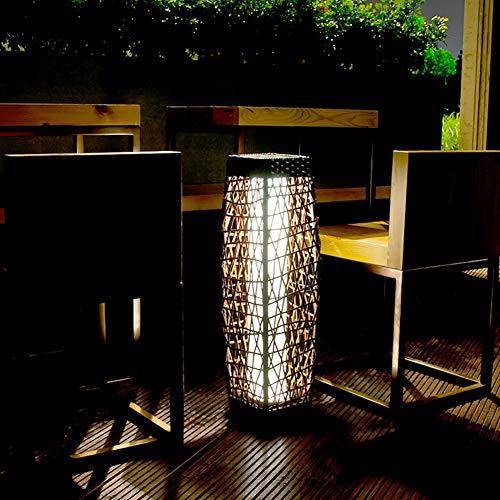 HECHEN Luci solari - Luci da Giardino all\'aperto Casa Giardino Impermeabile Giardino Cortile Decorazione Rattan Prato Lampione,B