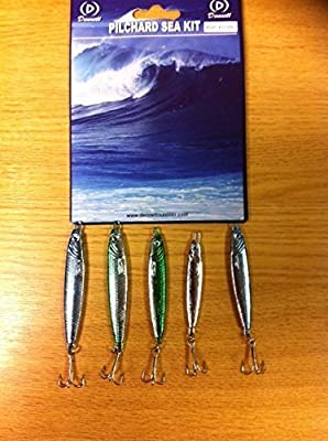 Dennett Pilchard Sea Lure Kit**5 Pack**1x20g, 2x30g, 2x42g Lures**Sea Fishing Lures from Dennett