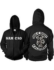 Cool Samcro Cosplay Costume Zip Capuche Veste Deluxe Sweat Casual Des Hommes Top Merchandise