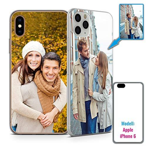 Premium Handyhülle für Apple iPhone-Serie selbst gestalten mit eigenem Foto und Text * Bild Cover Kappe Schutzhülle, Hülle:TPU-Silikon / Transparent (Seiten), Handymodell:Apple iPhone 6 / 6S