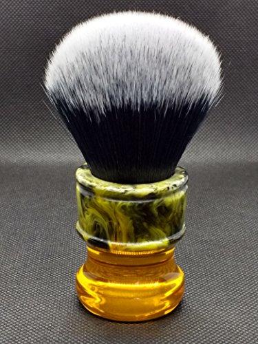 Yaqi Sagrada Familia R1730 Pennello da Rasatura con Fibre Sintetiche Bianche e Nere, Pennello da Barba