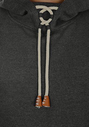 BLEND Alexej Herren Kapuzenpullover Hoodie Sweatshirt aus hochwertiger Baumwollmischung Charcoal