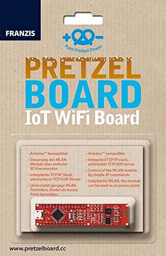 FRANZIS Pretzel Board: IoT WiFi Board | Arduinou2122-kompatibel | inkl. WLAN-Modul für eigenes Heimnetzwerk