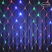 barsku Christmas Decorations, LED String Lights Net Mesh Lights Waterproof, 8 Modes Low Voltage Mesh Fairy Christmas Lights for Xmas Trees, Bushes, Wedding, Garden, Outdoor, Indoor