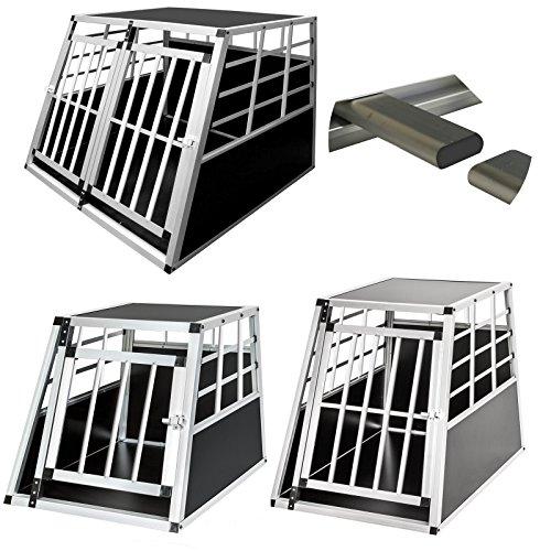 Reise Groß Pet-kiste (Haustier-/Hundegitterbox aus Aluminium, für Auto, Transportkiste zum Tragen für Reisen im Auto)