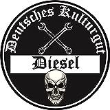 Aufkleber Sticker Feinstaub Umwelt Plakette Diesel Schwarz JDM Tuning Fun Lustig Auto Motorrad LKW für Innen! 2 Stück! Autoaufkleber Fahrverbot Umweltzone Deutsches Kulturgut