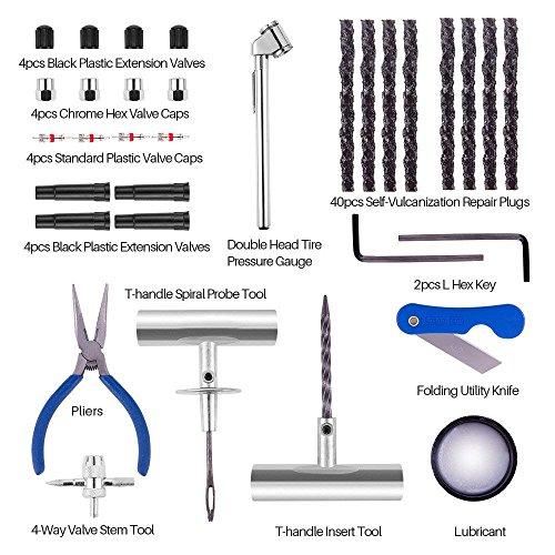 Qii lu 2Pcs Kit di riparazione pneumatici Set di strumenti di riparazione pneumatici per autoveicoli