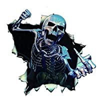Payonr Home Helper 16CM Car Sticker Skull Car Hoods Thriller Rear Window Decal Car Decal Covers Waterproof