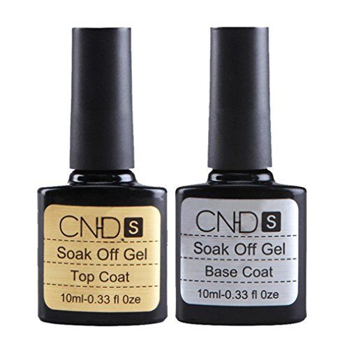 Feitong 2 Pcs Top Coat Base Coat Uv Gel Nail Polish Primer Nail