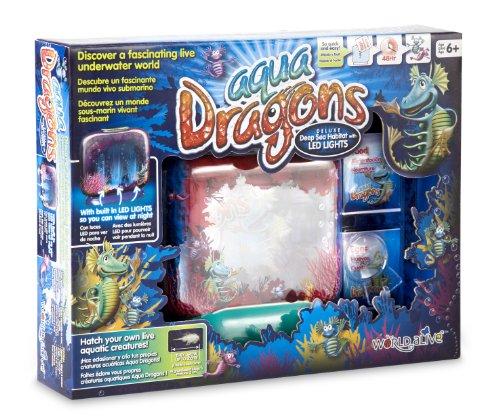Aqua Dragons Deluxe - Pecera para Dragones de Agua- Mundo Submarino Juguete...