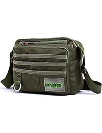 JAKAGO pequeña bolsa de mensajero a prueba de agua bolso de hombro casual multifunción viajes bolsos crossbody bolso de la taleguilla de los hombres bolsa de trabajo de negocios con múltiples bolsillo