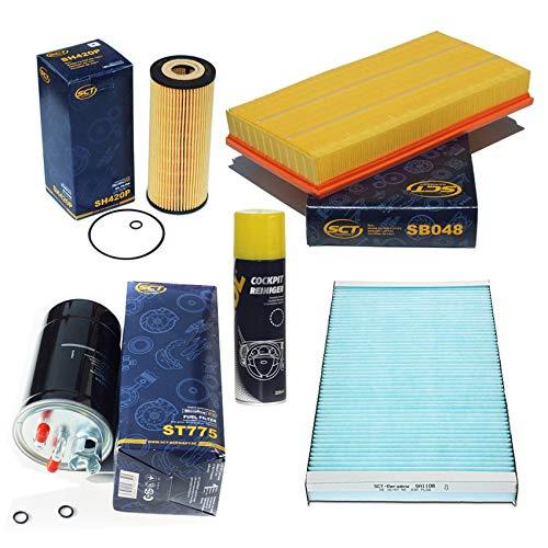 Inspektionspaket SCT Aktivkohle Pollenfilter Luftfilter Ölfilter Kraftstofffilter