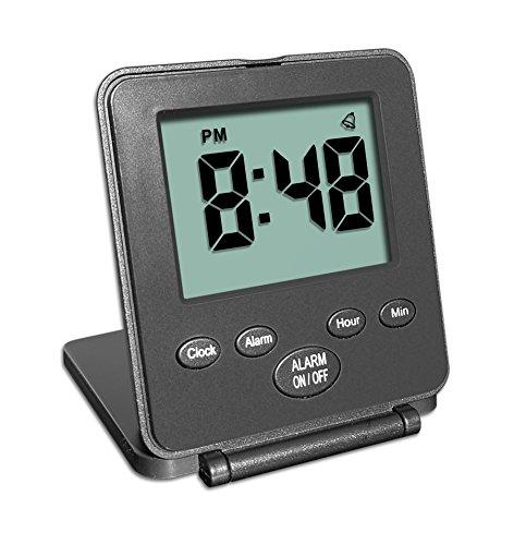 Reloj Digital de viaje con despertador | Uso fácil y simple | Alarma - Repetición de alarma ...
