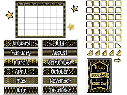 Sparkle + Shine Calendar Bulletin Board Set