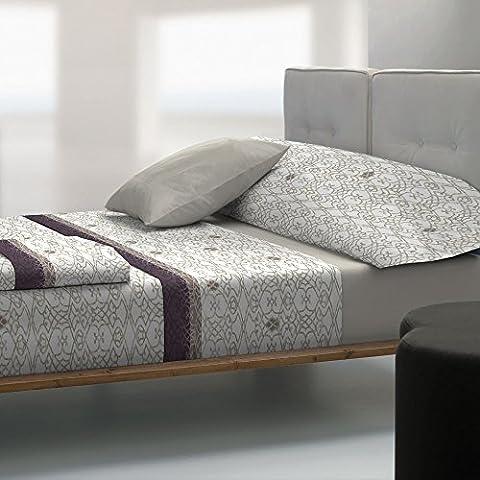 Tolrà TC024 - Juego de sábanas y funda de almohada, 3 piezas, tacto coral, para cama de 90 cm, color