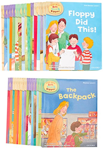 Preisvergleich Produktbild Read with Biff,  Chip & Kipper Set Phonics and First Stories 33 Books Collection Level 1-3