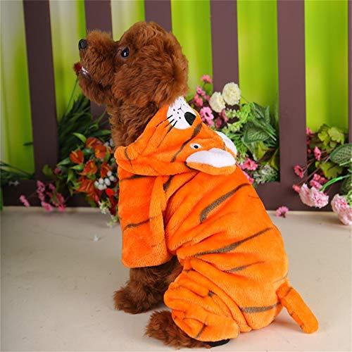 Tail Kostüm Zubehör Lion - Halloween Kleidung Haustierbekleidung Tiger Dress Up Kleidung Herbst Winter Cute Lion Hut Small Tail Teddy Kleidung vier Beine tragen Heimtierbedarf (Size : Xxl)