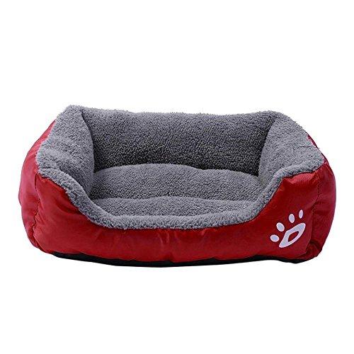 Rrameng Hunde, Katzen Schlafdecke, Weicher Korb und Warmes Schlafkissen, Kissen und Decke
