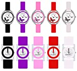 Codice Analogue Multicolour dial Combo Offer of 10 Glory Watches for Women and Girls – CD785-PAC05010-COM10