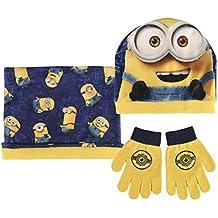 Conjunto gorro guantes braga cuello polar Minion