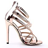 YIBLBOX Damen High Heel Pumps Stiletto Sandalen Party Schuhe Riemchen Abend Sandaletten Schuhe