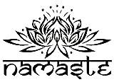 PETANSY Adesivi della parete Arte Decorazione domestica La parola indiana della religione religiosa Decalcomanie da parati Lo stile dell'autoadesivo di Lotus Yoga colora la camera da letto della casa del fiore di Buddha Ganesha (L, BLACK)