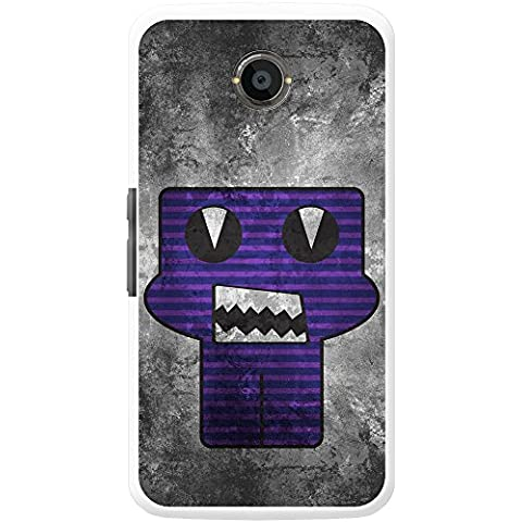 Grunge monstruos Carcasa para teléfonos móviles, plástico, Purple Monster Razor Teeth, Motorola Nexus
