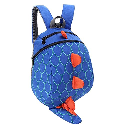 Kinder Schultaschen Dinosaurier Rucksack für Junge Mädchen 1-5 Jahre (blau)